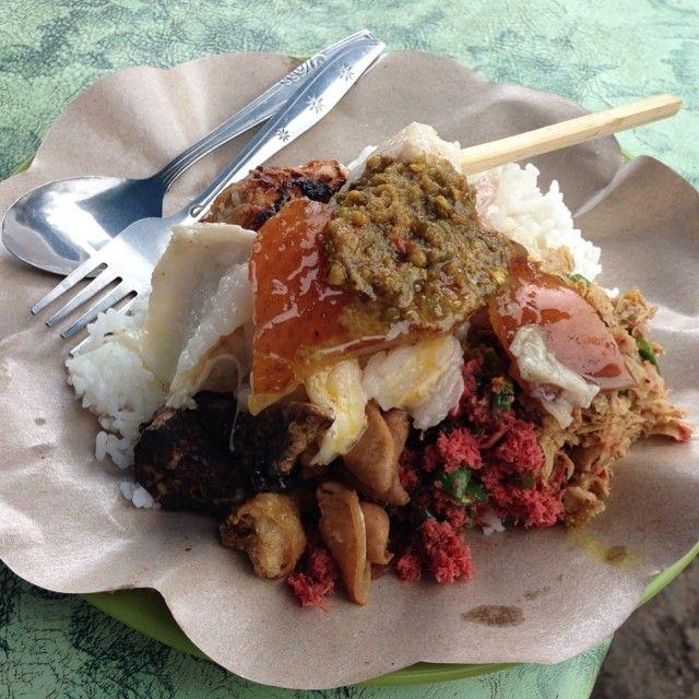 Babi Guling (Suckling Pig Roasted) Original #Balinese Dish available at local #Warung