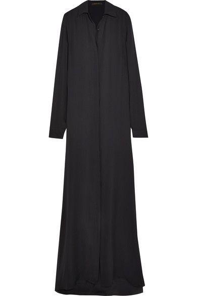 JUAN CARLOS OBANDO Silk-Georgette Maxi Shirt Dress. #juancarlosobando #cloth #dresses