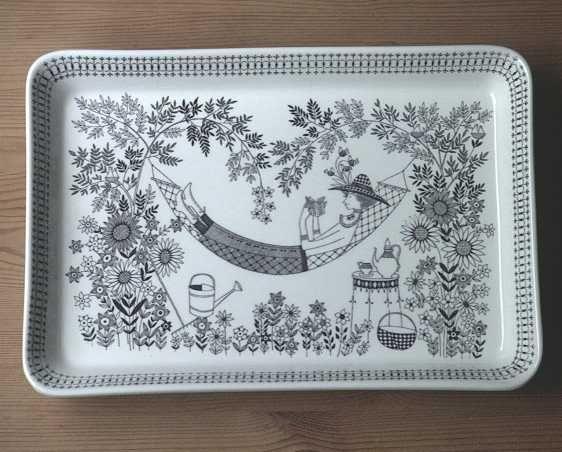 Raija Uosikkinen    EmiliaDesign Kaj, Finland Porcelain, Decor Raija, Raija Uosikkinen, Emilia Rectangular, Uosikkinen Emilia, Design Finland, Arabia Finland, Arabia Ceramique