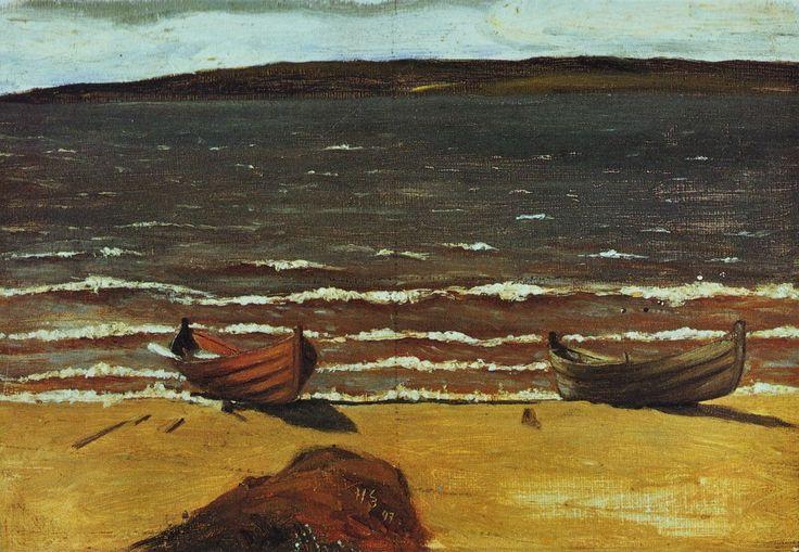 Veneitä rannalla by Hugo Simberg