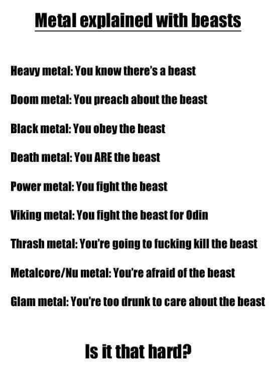 I am either Viking Metal or Glam Metal. There is no in between.