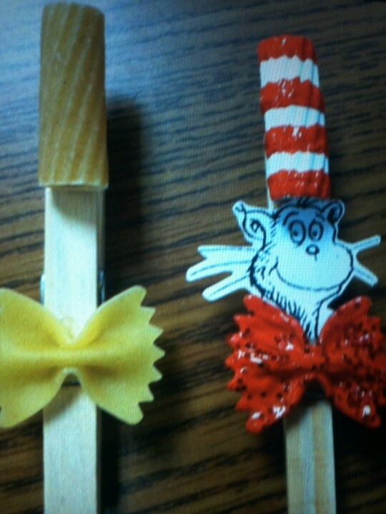 Cat in the hat clothes pin craft kids crafts pinterest for Cat in the hat bedroom ideas