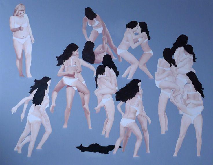 Femme Fatale, 2012, olej na pąĘtnie, 200x255cm