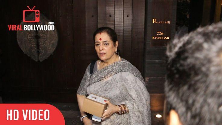 Poonam Sinha At Sonam Kapoor's Maternal Grandmother Draupadi Hingorani Bhambani Prayer Meet