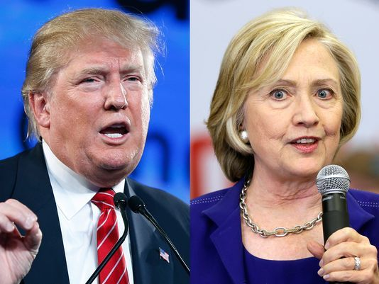 """2016 Presidential Polls: Donald Trump, Hillary Clinton leading nationwide """"Details"""""""