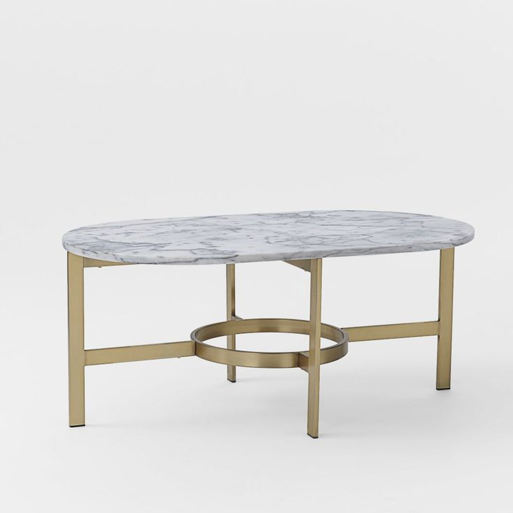 West Elm Marble Oval Coffee Table $699