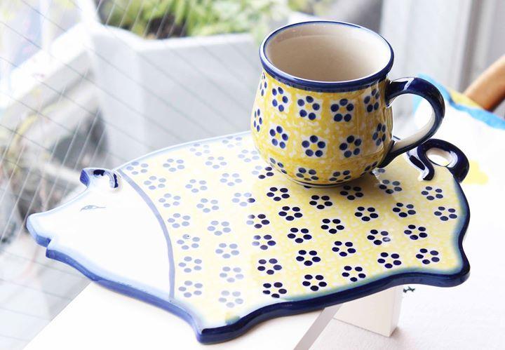 ポーリッシュポタリーボレスワヴィエツ陶器 この黄色がいいですね #陶器 #ポーランド食器 - http://facebook.com/rlwonderland