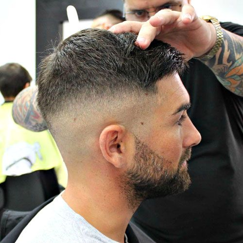 High Bald Fade with Crew Cut