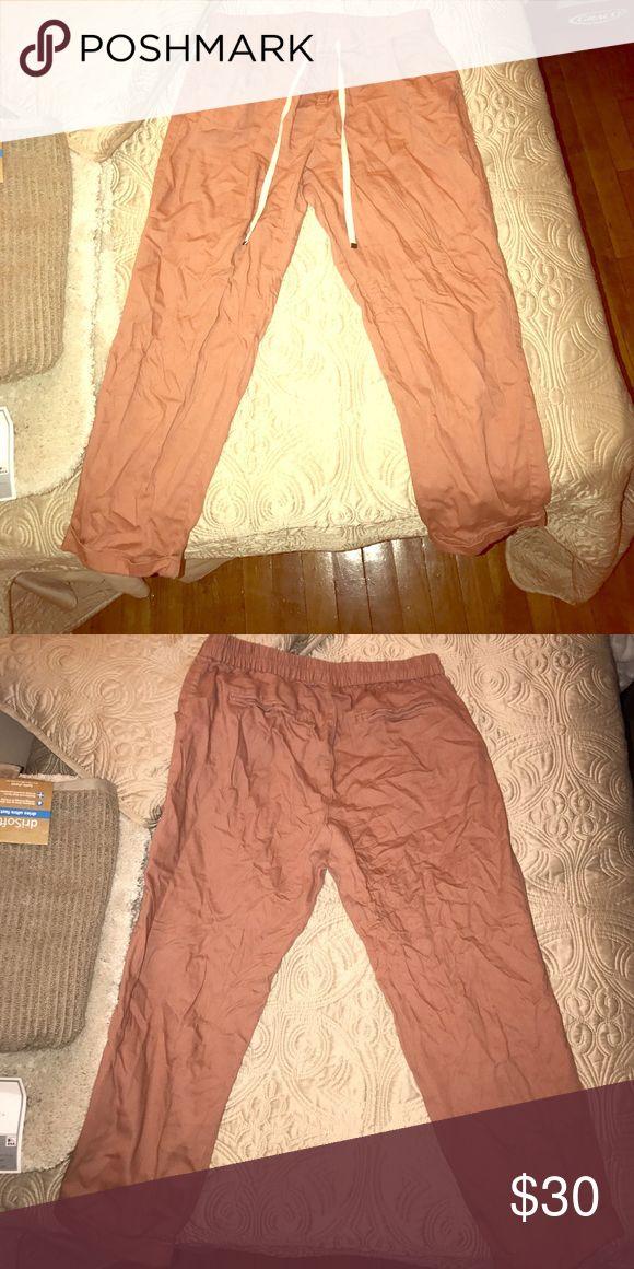 Salmon pants. Salmon pants with draw string Old Navy Pants Capris