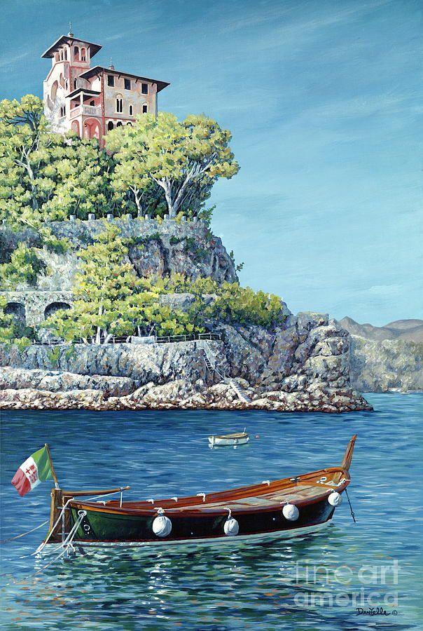La Vie En Rose by Danielle Perry ~ row boat cliff house