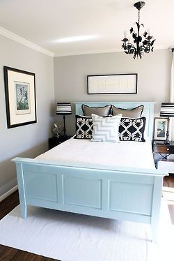 Can we paint our boring black bed?!