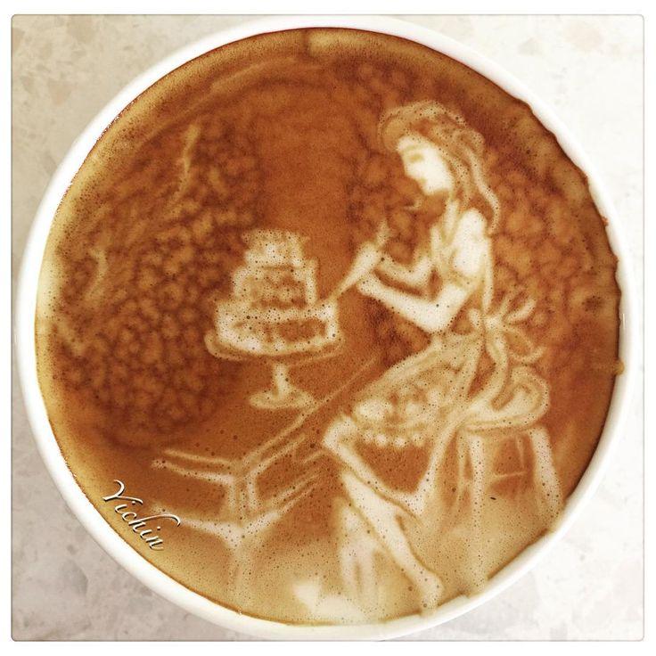 """#生日蛋糕 #birthdaycake #happybirthday #coffeelove #coffeetime #morning #coffee #latte #latteart #coffeeart #espressoart #art #latteporn #coffeeporn…"""