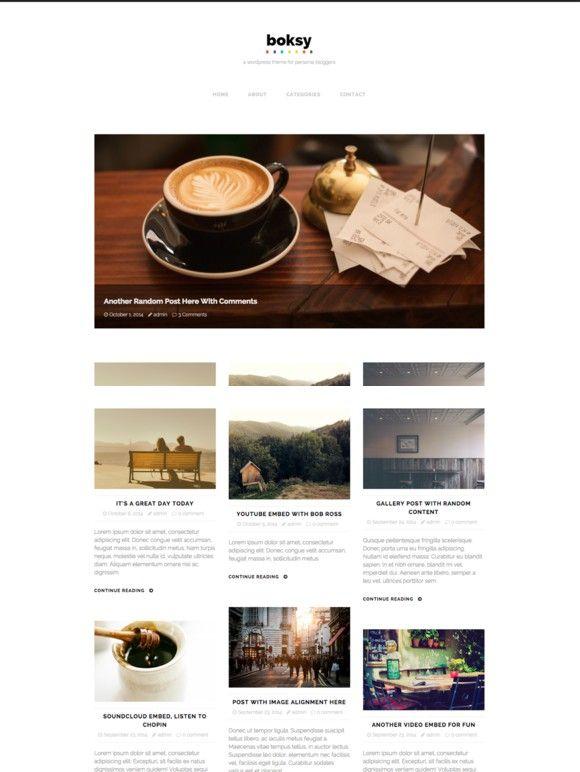 Boksy - WordPress Theme for Bloggers. WordPress Blog Themes. $49.00