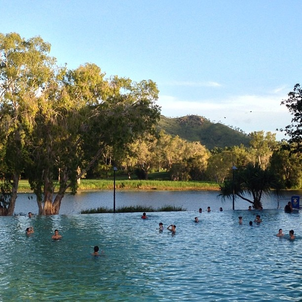 Spend an afternoon chillaxing at the Riverway Lagoons in Townsville #townsvilleshines #swimming #tropical #instagram photo by dhley