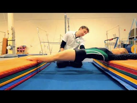 Interesting drill (0:49) to practice holding a straight back for handstand; from a gymnastics approach.