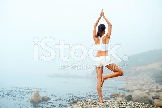 Stile di vita yoga donna - fotografia stock royalty-free