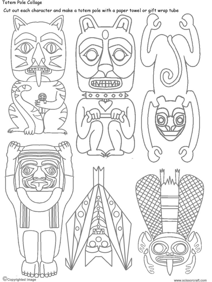 horse totem pole coloring pages - photo#46