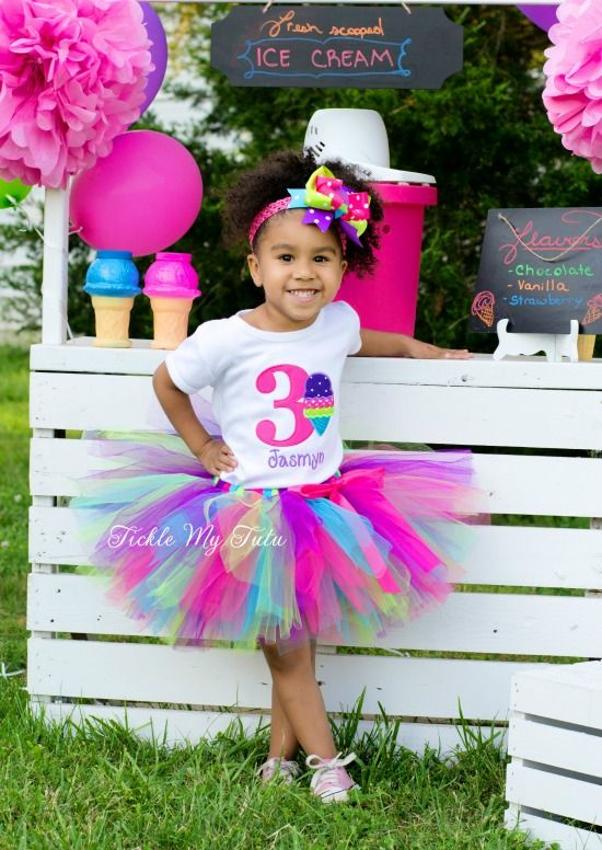 "Ice Cream Party ""Jasmyn"" Birthday Tutu Outfit...www.ticklemytutu.com"