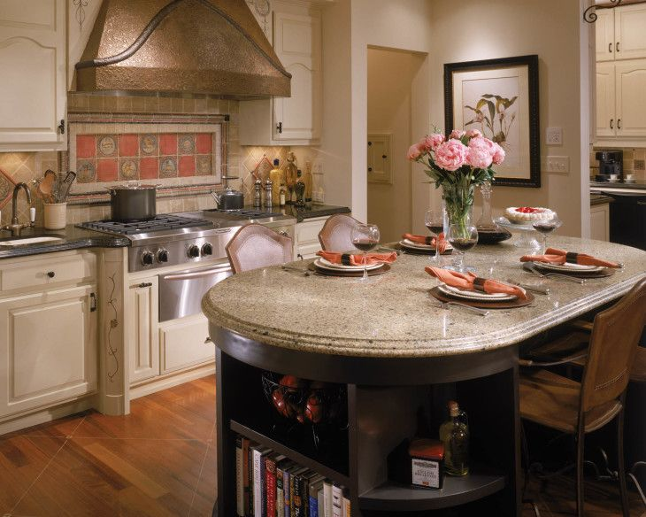 Inspiration Kitchen Amazing Oval Top Kitchen Island With Granite Cambria - pictures, photos, images