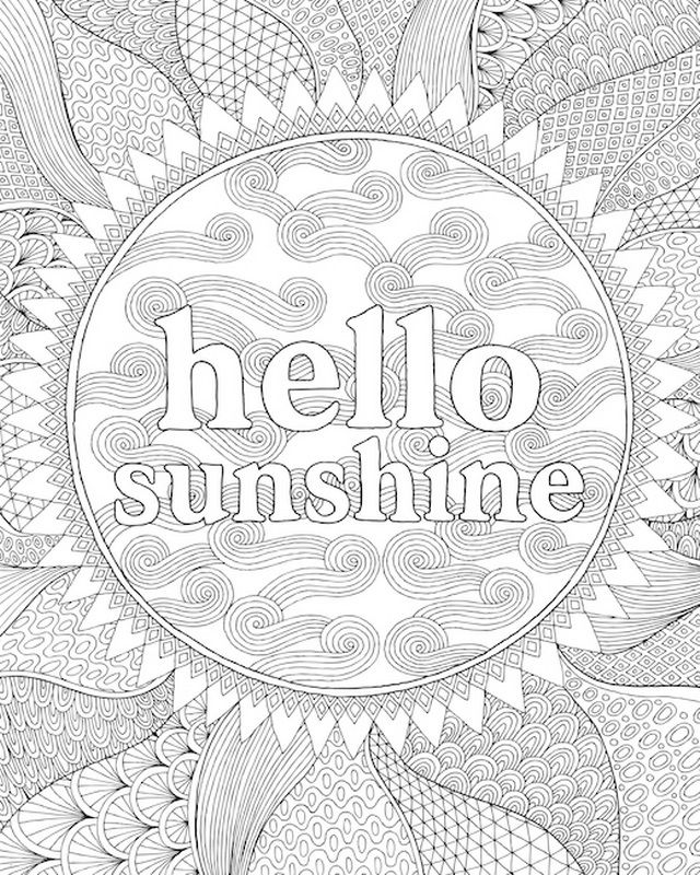 Hello Sunshine Coloring Canvas Canvas On Demand Coloring
