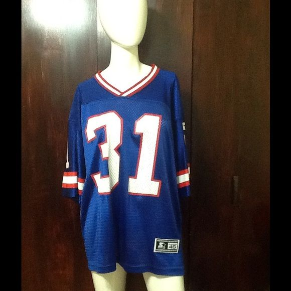 Jersey Jason Sehorn football jersey 100% polyester. Athletic starter apparel Other