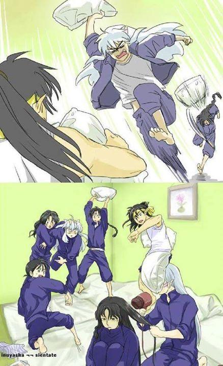 Agora FERROU!!! De todos eles, Inuyasha tinha que acertar o Senshomaru