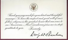 Dwight D. Eisenhower White House Thank Your Card, Facsimile Signature