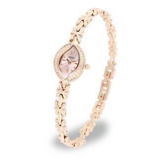 オーバルフェイスブレスレット時計/ピンクゴールド
