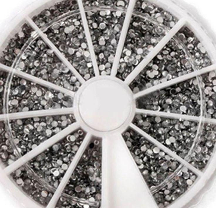 1-Set Dainty Popular 3D Acrylic Rhinestone Nail Art Wheel Salon Supplies Tools Kit Accessory Decor Pattern Style