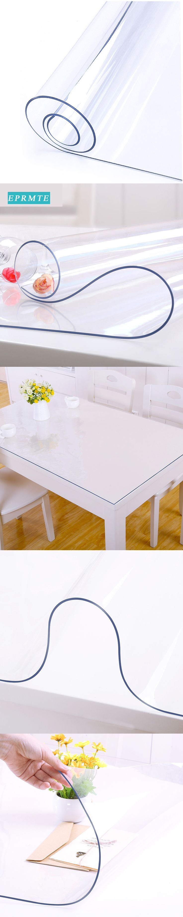 solid waterproof pvc table cloths transparent soft glass table covers for home oilproof rectangle modern decoration table mats