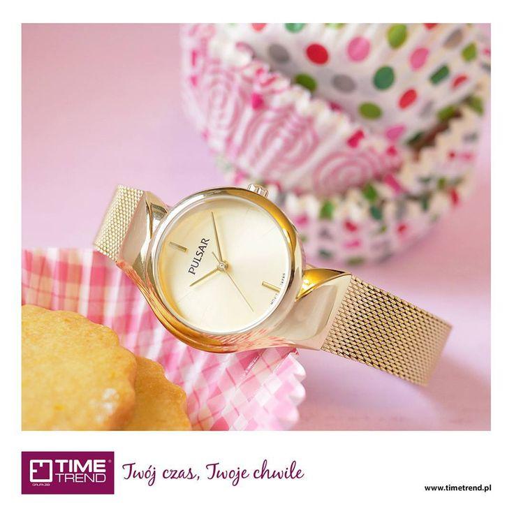 Czas na deser! 💟🍰 #pulsar #pulsarwatchespolska #zegarek #zegarki #zloto #glod #fashion #timetrend #love #sweet #musthave