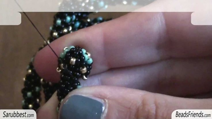 Tutorial Coppetta con perline: spirale Chenille con coppette create con perline | Tutorial perline