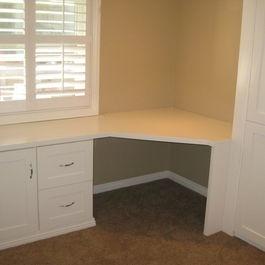 built-in corner desk