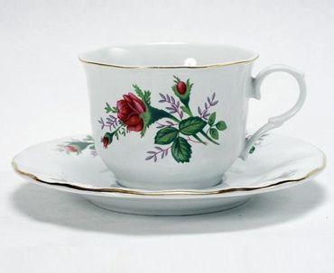 Set of 6 Inexpensive Pink Rose Bulk Discount Tea Cups Teacups ...