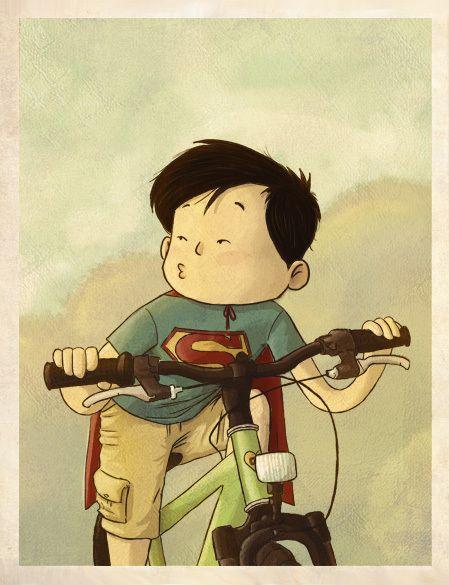DC's Trinity As Kids by Camilio Otalora