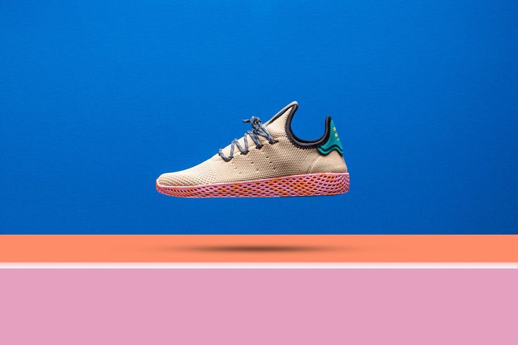 Adidas x Pharrell Williams Tennis HU - Tan/Teal/Pink Marble from Sneaker Politics