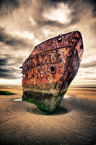 """The shipwreck at Baltray"" by Darren Walsh. Ireland"