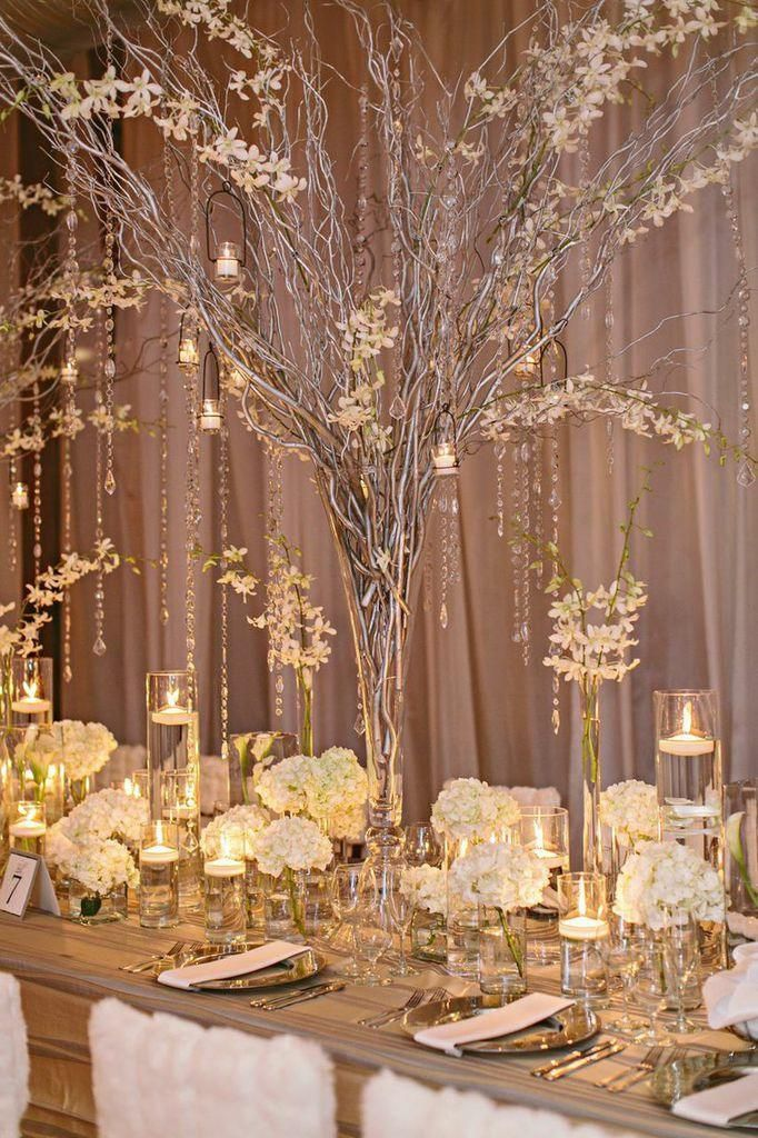 Elegant Durham Wedding at The Cotton Room from Almond Leaf Studios - wedding centerpiece idea