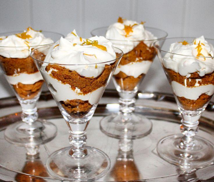 Mascarponekrem med klementin og pepperkaker – Snikgjest