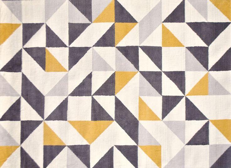 ラグ カーペット 北欧 幾何学柄 ホットカーペット対応ラグ モリヨシ