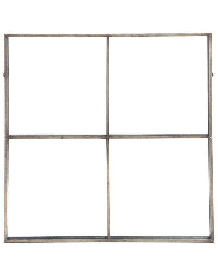 mirrordeco.com — Window Frame Mirror - Antique Silver Frame H:80cm