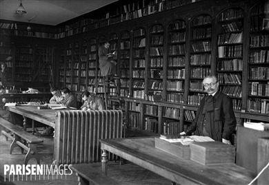 Bibliothèque de l'Ecole normale supérieure. Paris, vers 1935.