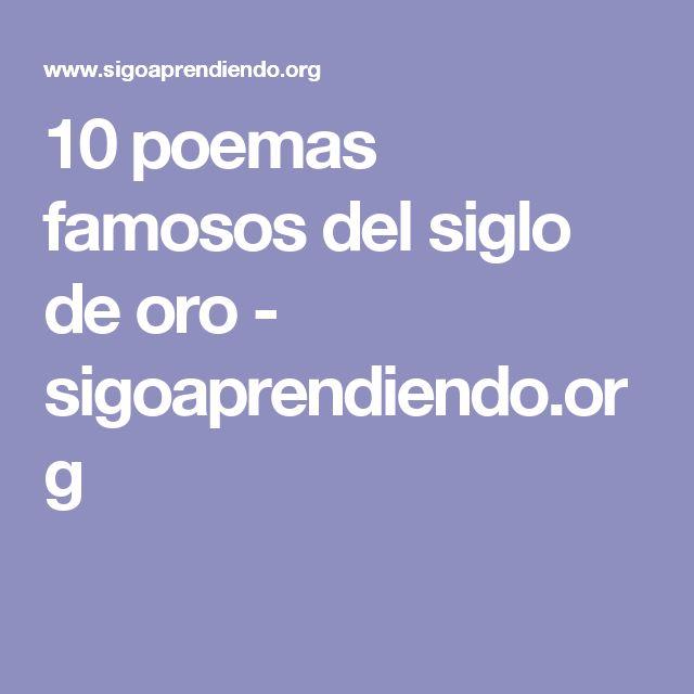 10 poemas famosos del siglo de oro - sigoaprendiendo.org
