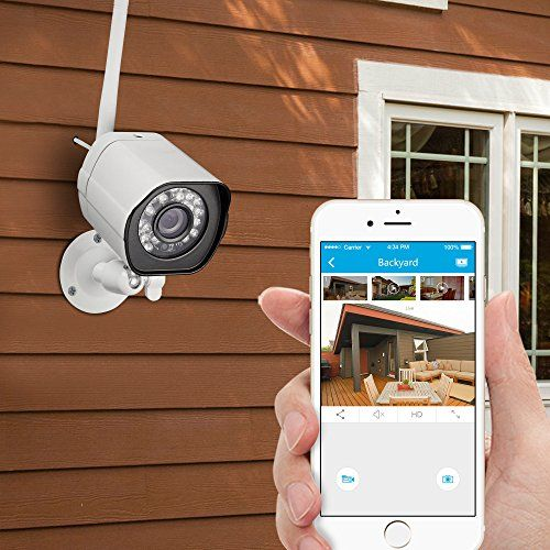 An affordable security solution for your home and business.This wireless home security camera kit can meet all your needs to check on your home, kids, pets or business anywhere anytime.It is very easy to setup via Zink...