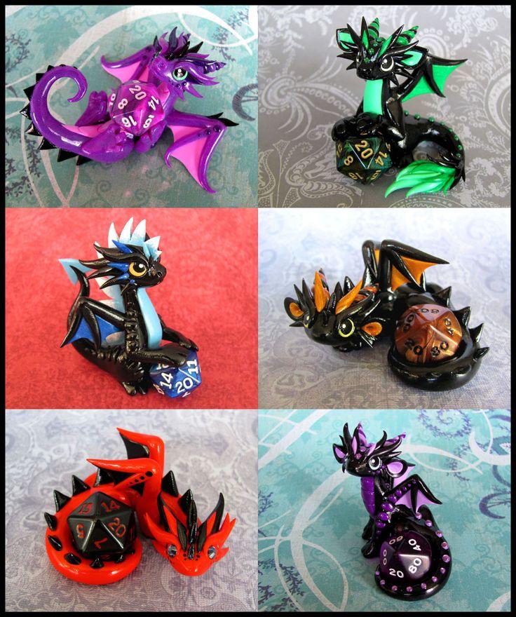 Dice Dragons by DragonsAndBeasties.deviantart.com on @deviantART