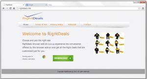 RightDeals pop-up ads est une infection adware conçu par les pirates en ligne pour ruiner l'ordinateur complet.