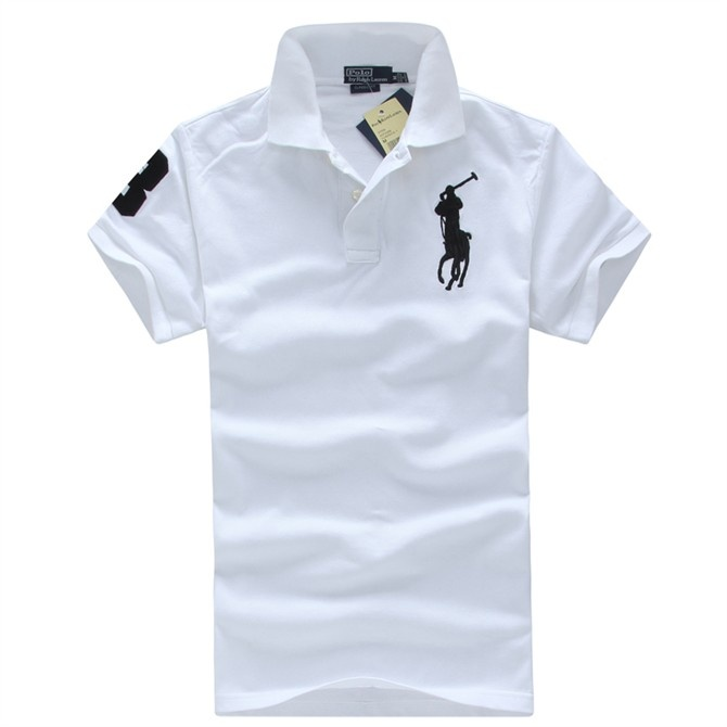 all white polo shirt