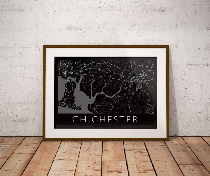Chichester Print. Mono Horizontal Print. Custom Map Art Prints available. Check out www.mappedmoments.com  #prints #wall #wallart #follow #followme #customart #map #maps #topography #posters #newapartment