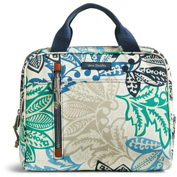 Vera Bradley Lunch Cooler ($38) ❤ liked on Polyvore featuring home, kitchen & dining, food storage containers, santiago, vera bradley, fabric cooler and lunch cooler