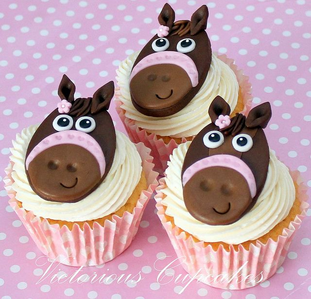 Teddy and Horse cupcakes by Victorious Cupcakes, via Flickr